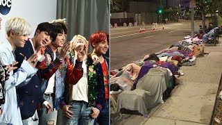 International K-pop group BTS is kicking off their North American tour Wednesday night, and fans are lined up bright and early outside of Staples Center for night ...