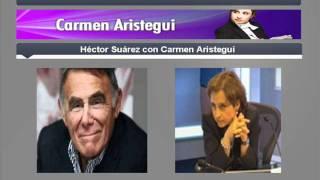 Héctor Suárez con Carmen Aristegui