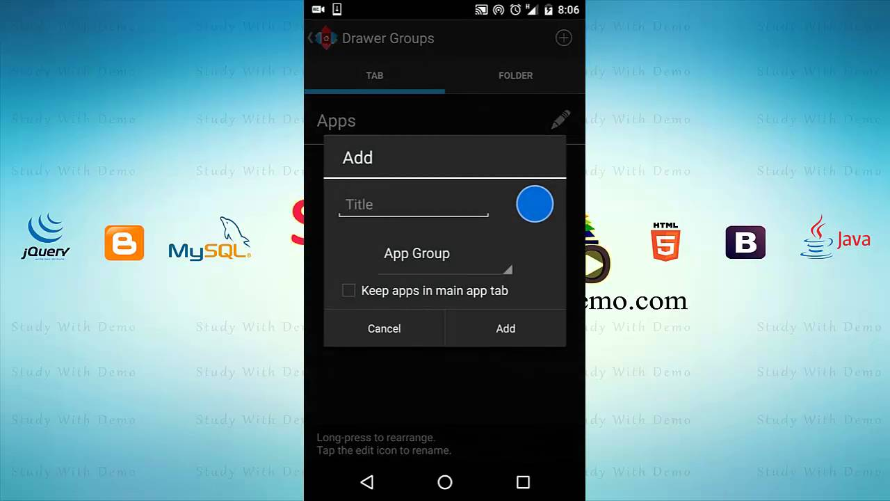 How to Add Widgets Tab in Nova Launcher App