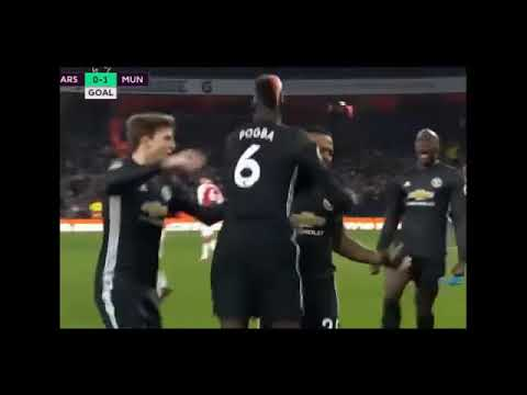 Download Arsenal vs Manchester United 1 3 Goals  Highlights 02 12 2017