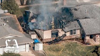 Pilot killed when plane crashes into home in Upland