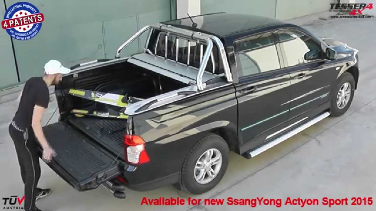 At www accessories 4x4 com ssangyong actyon sport 4x4 2015 offroad mudding aluminum roller lid youtube