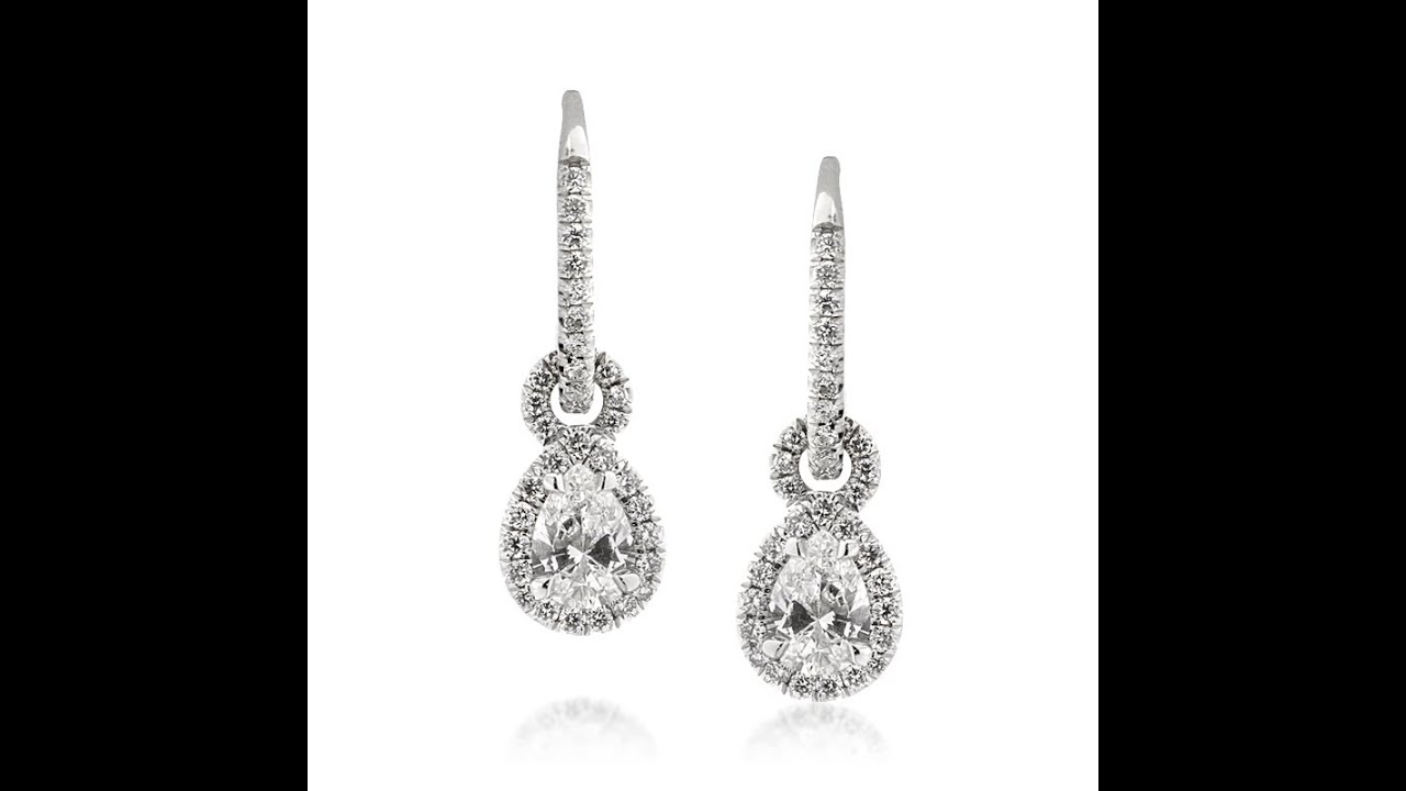 1.50ct Pear Shaped Diamond Earrings