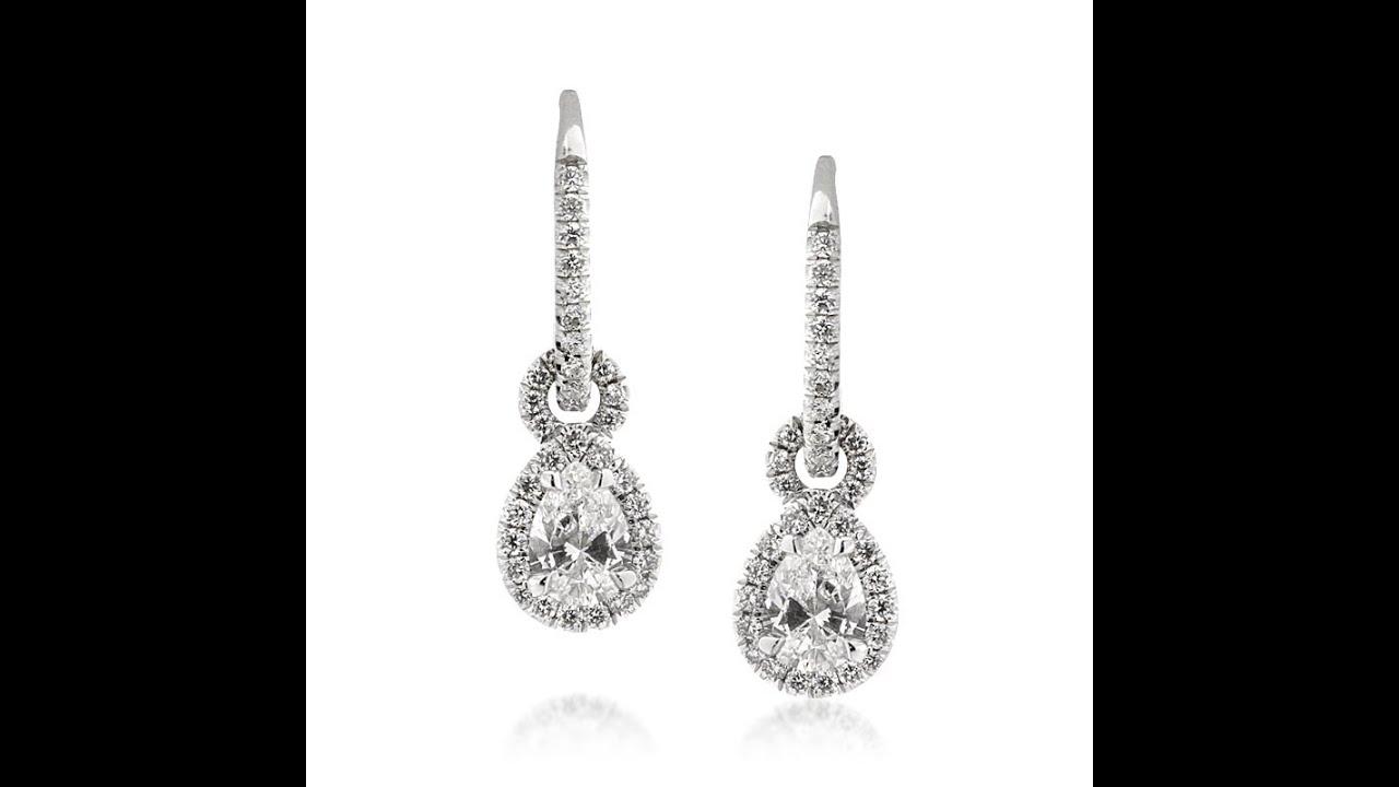 1.50ct Pear Shaped Diamond Earrings