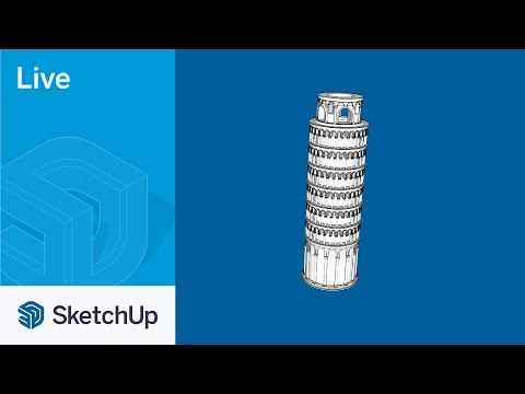 Modeling the Leaning Tower of Pisa Live in SketchUp!