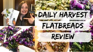 Daily Harvest FLATBREADS Review   Taste Testing All 3 New Flavors!