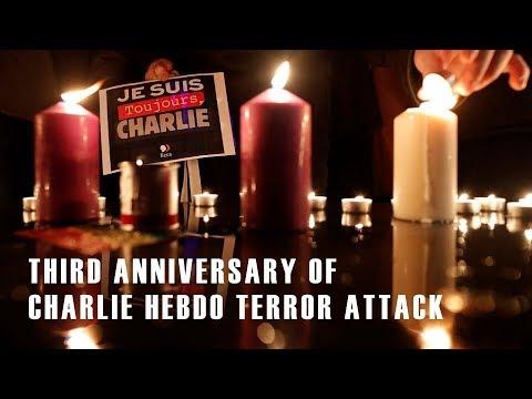 Live: Third anniversary of Charlie Hebdo terror attack法国总统马克龙出席恐袭纪念活动