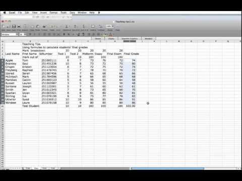 Teaching Tip Using Excel Spreadsheets to calculate final grades