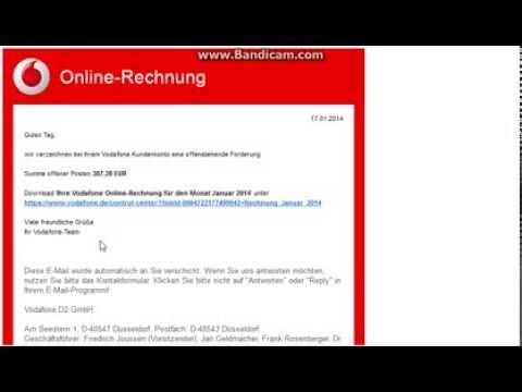 Gefälschte Mahnungen Von 11 Und Vodafone Phishing Mails Januar