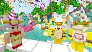 Bowser Jr's Secret Party! [CAUGHT!] - Nintendo Fun House - (Minecraft Switch) [233]