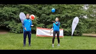 Franken Aktiv: Luftballon + Wasserball hochhalten