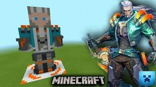 How to make Murad Arrival ROV | วิธีสร้างมูราดสกินอาไรโวล์ จากบล็อคมายคราฟ [Minecraft design skin]