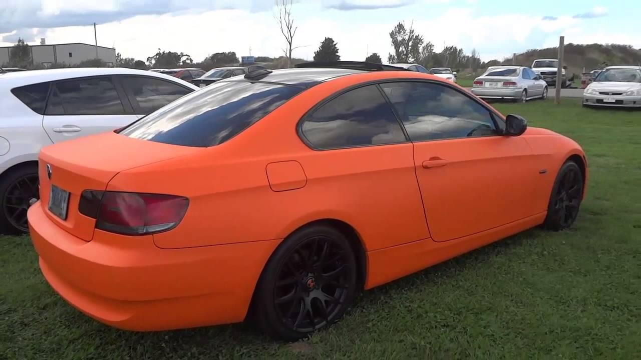 Matte Orange Wrapped Bmw 328i With Black Rims Youtube