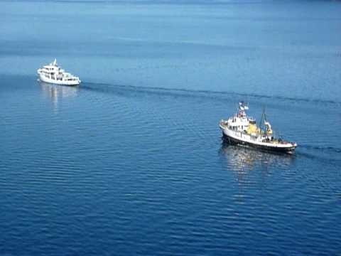 coulee air services Coast Guard tugs Comanche and Modoc on reunion cruise 2009