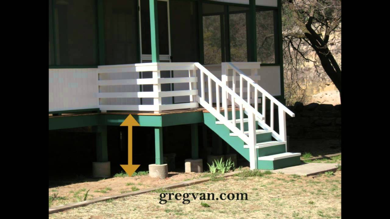 Do you need a porch guard rail house construction youtube for Need a house