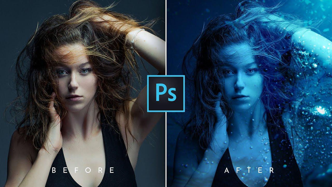 Photoshop Tutorial | Underwater Effect in Photoshop | Photo Effects (Easy)