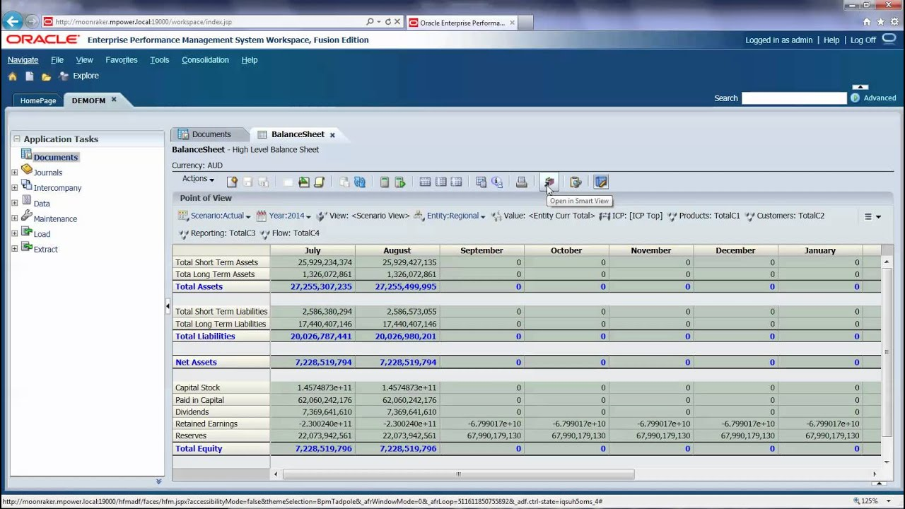 Opening a data form in Smart View from HFM - YouTube