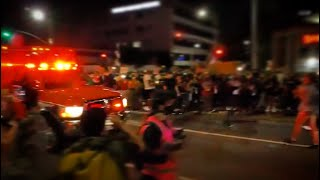 Hollywood Protest Turns Violent When Cars Pass Through Group | Hollywood CA 9.24.20