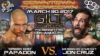 Greek God Papadon vs Jon Cruz FTPW 2017