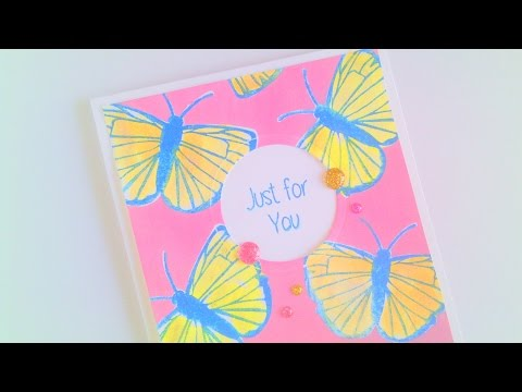 Just For You Card with Masking and Pigment Ink Blending