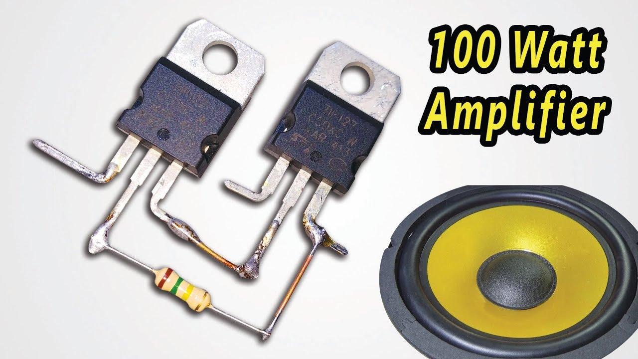How To Make Powerful 100 Watt Amplifier Circuit Dc 12v Youtube