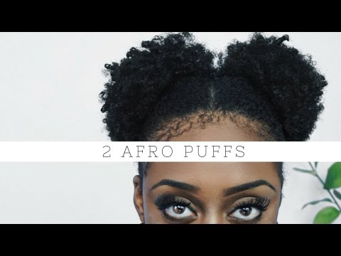 How To: 2 Afro Puffs | No Strain : Short 4b/4c Natural Hair