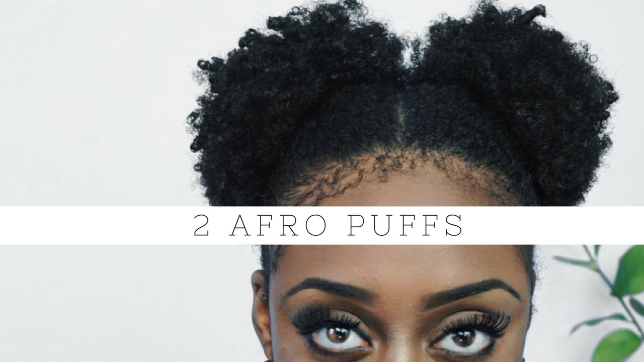 How To 2 Afro Puffs  No Strain  Short 4b4c Natural Hair  YouTube