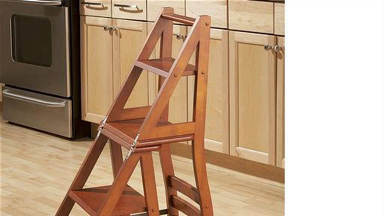 library chair ladder plans director covers ikea how to build a ben franklin youtube