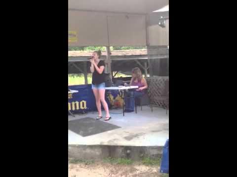 Courtney with Extreme Karaoke