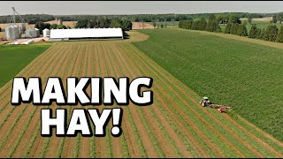 Our first days of HAY!! (FIRST CUT HAY 2020 - PART ONE): Vlog 305