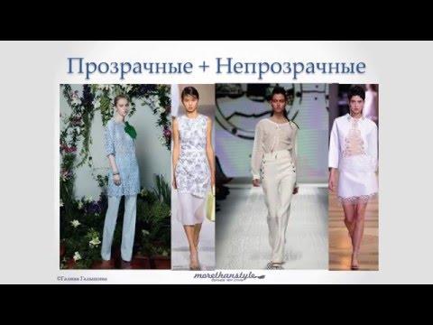 Сочетание прозрачной и непрозрачной одежды