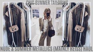 CHIC SUMMER TAILORING | NUDE & SUMMER METALLICS | REISS | IAM CHOUQUETTE
