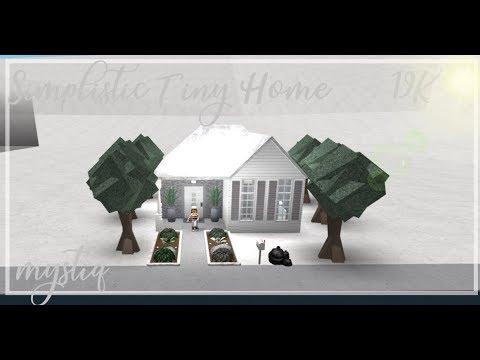 Roblox Bloxburg Simplistic Tiny House Youtube