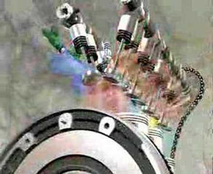 Animacion motor 16Valvulas 4 cilind