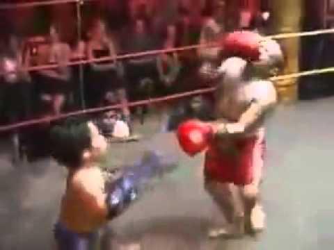 Question Midgets kick boxing
