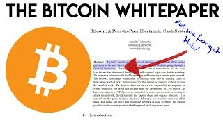 The Bitcoin Whitepaper - A reminder