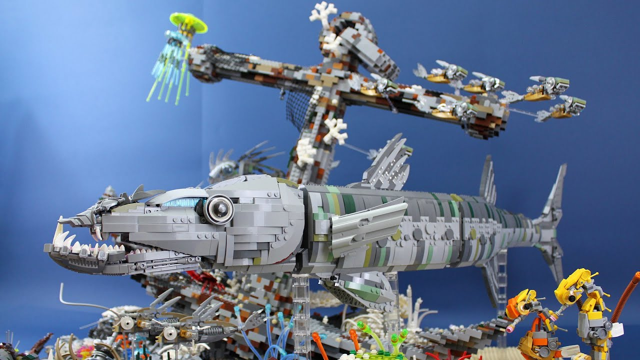LEGO Underwater Marine Pollution Diorama