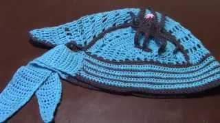 Вязание крючком детской шапки банданы часть 1 из 12