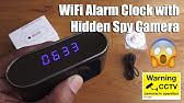 REVIEW: Wi-Fi Hidden Spy Camera Alarm Clock (FHD 1080P) - YouTube