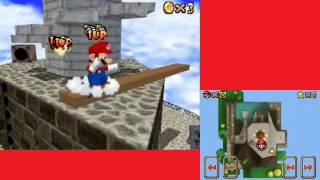 Super Mario 64 DS Glitch - 1UP Trick (Whomp
