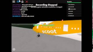 roblox scoot airlines flight a350 part 1fanmade