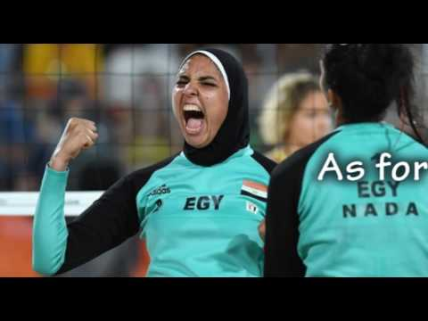 Hijab, Leggings, and Long sleeves Won't Hinder Egyptian Beach Volleyball Player's Olympic Performanc
