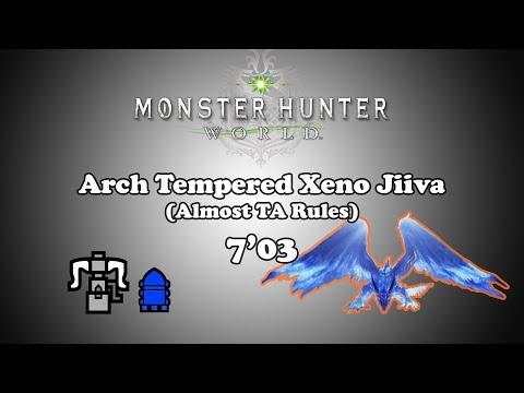 [MHW PS4] Arch Tempered Xeno Jiiva - HBG solo - 7'03
