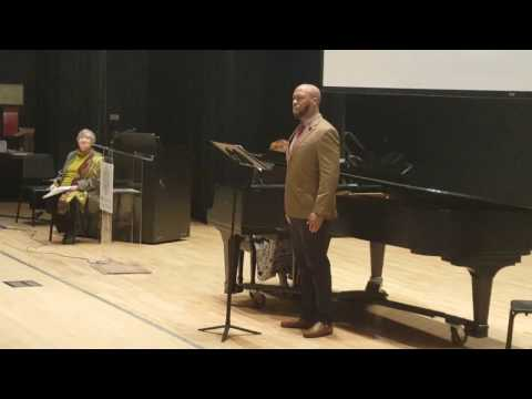 2017 African American Art Song Alliance-Roderick George sings H.T. BURLEIGH