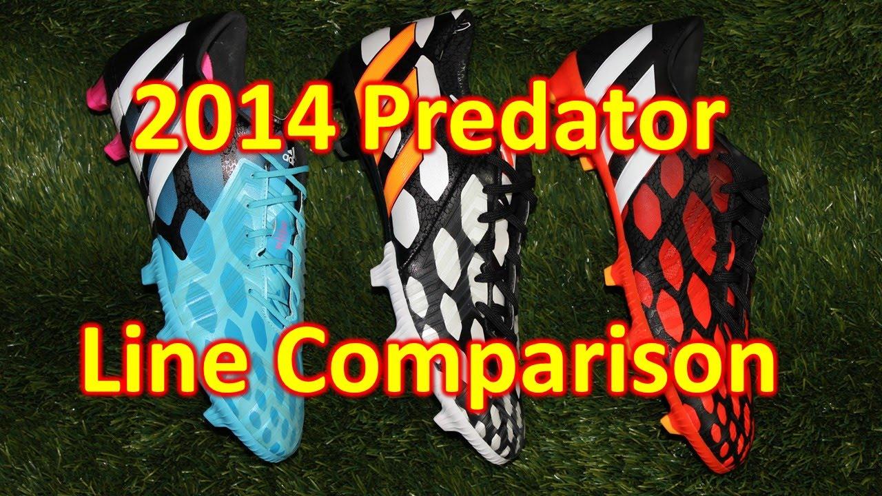 mendigo sustantivo Ondas  Adidas Predator 2014 Line Comparison - Instinct vs Absolion vs Absolado -  YouTube