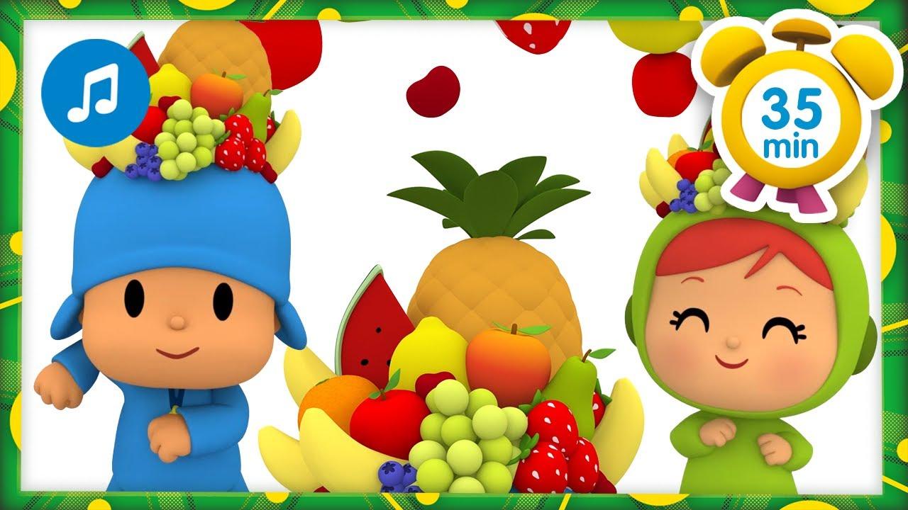 🥑 CANCIONES INFANTILES de POCOYÓ - Canción de los vegetales [35 min]  Caricaturas y dibujos animados