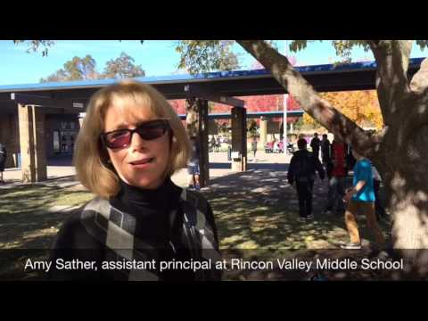 Therapy dog at Rincon Valley Middle School