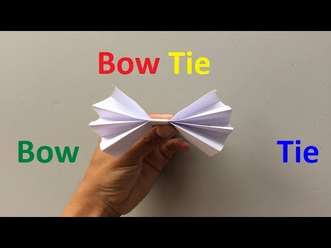 How to make a paper bow tie | Easy Origami Bow Tie Tutorial | Making an Origami Bow tie