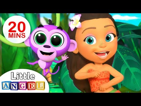 Princess Songs: The Jungle Princess, Apples and Bananas | Kids Songs by Little Angel
