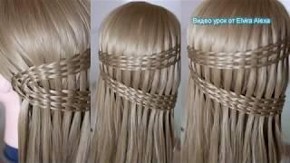 Красивая коса для длинных волос  Коса Водопад  Причёска  на каждый день Hair tutorial
